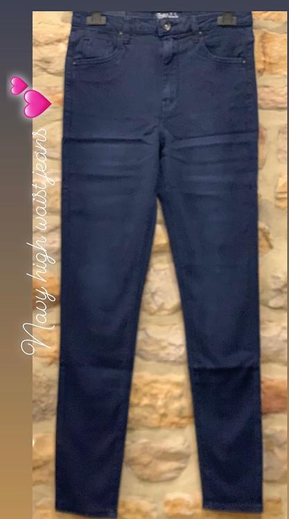 Navy high waist jeans