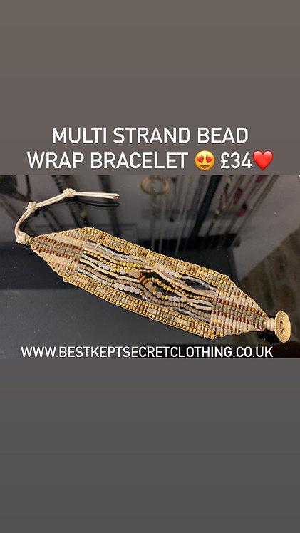 Multi strand gold bead bracelet