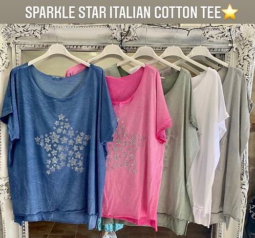 Sparkle Star Italian Cotton Tee