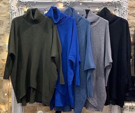 Danni Ribbed Polo Neck Sweater