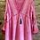Thumbnail: Pink Deep V Neckline Cotton Top