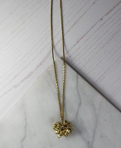 Cluster Pendant Long Chain Necklace