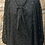 Thumbnail: Black sheer blouse with bow necktie