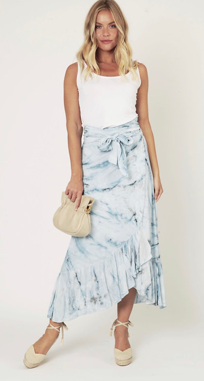 Sarina Wrap Printed Maxi Skirt