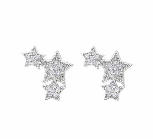 Triple Star Stud Earrings