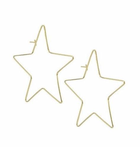 Megastar hoop metal earrings