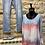 Thumbnail: Italian Tie Dye Lace Trim Top