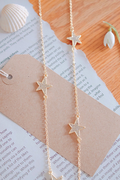 Multi Star Long Necklace