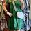 Thumbnail: Italian Cotton Short Dress with Lace Bottom Detail