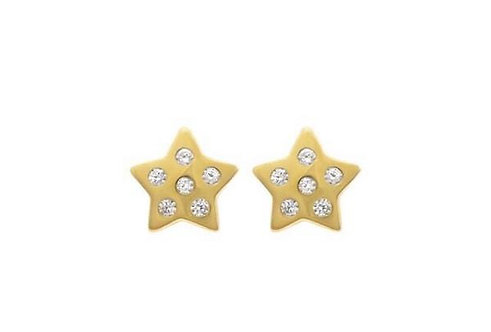 Stardust studs in sterling silver or gold plated earrings