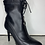 Thumbnail: Black Spike Heel Ankle Boots