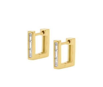 Stella Square Hoop Earrings