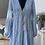 Thumbnail: Bella Blue Tiered V Neck Dress