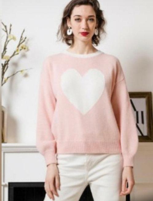 Love Heart Motif Sweater