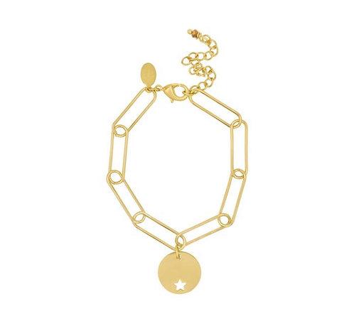 Paper Clip Bracelet in Gold or Silver