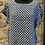 Thumbnail: Italian Linen Spotty Top with Frill Sleeves