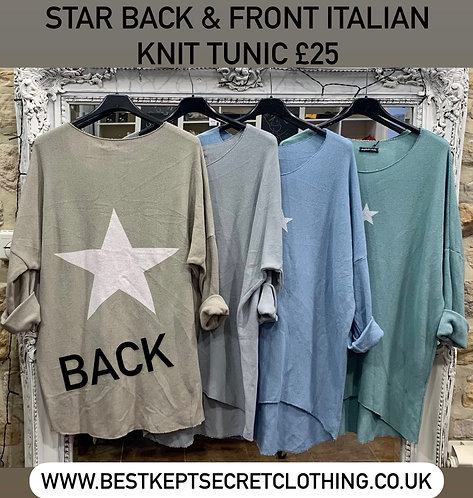 Star Back & Front Italian Knit Tunic