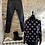 Thumbnail: Black Wet Look Jeans