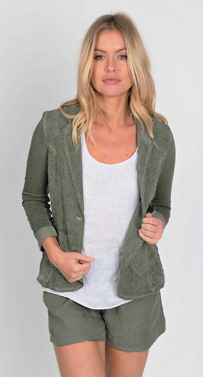 Italian Linen Blazer with Jersey Back