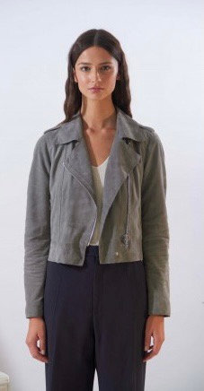Oakwood Suede Cropped Biker Jacket