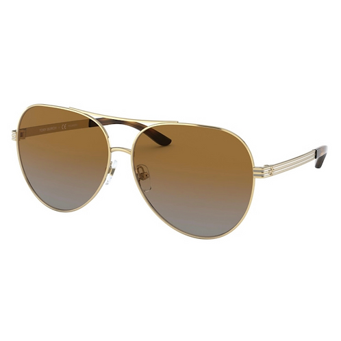 Tory Burch Kira Striped Pilot Polarized