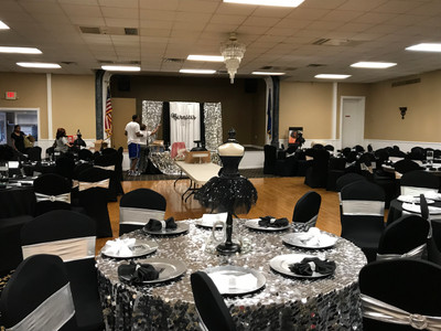 Food Set Up For Event in Brady Hall