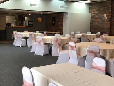 Upstairs Donahue Hall Set For a Wedding