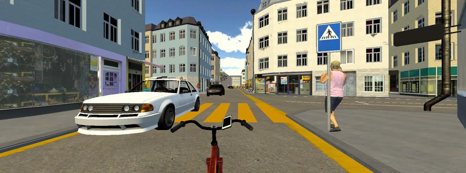VR Bike im Stadtverkehr