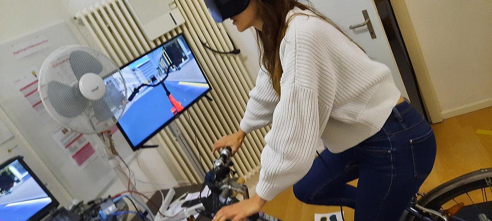 Testing Virtual Reality Bike