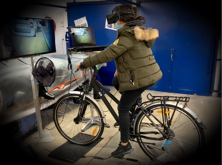 Testes des VR Fahrrads