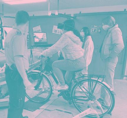 Polizei testet VR Fahrrad
