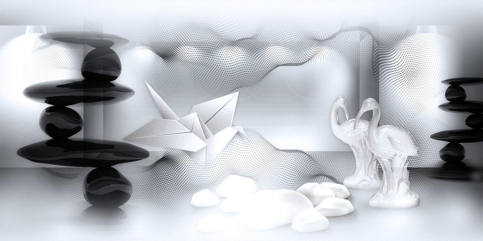 Origami Bird meets Bisque Bird