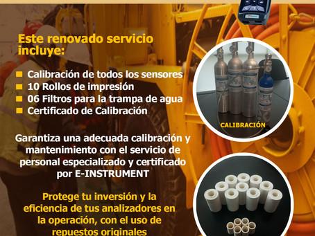 Nueva tarifa de calibración para analizadores de combustión E-Instrument