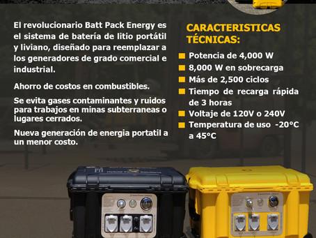 Sistema de batería de litio portátil y liviana