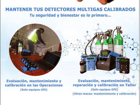 Servicio de calibración Detectores de gas