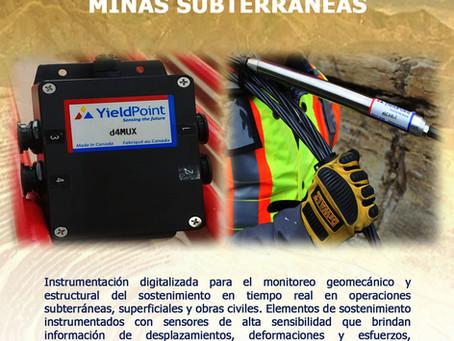 Monitoreo geomecánico en minas subterráneas