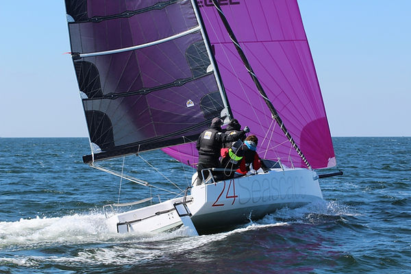First 24 downwind, reaching, Ostseecup Heiligenhafen