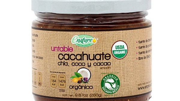 Untable de Cacahuate Orgánico con Chía, Coco y Cacao 280g