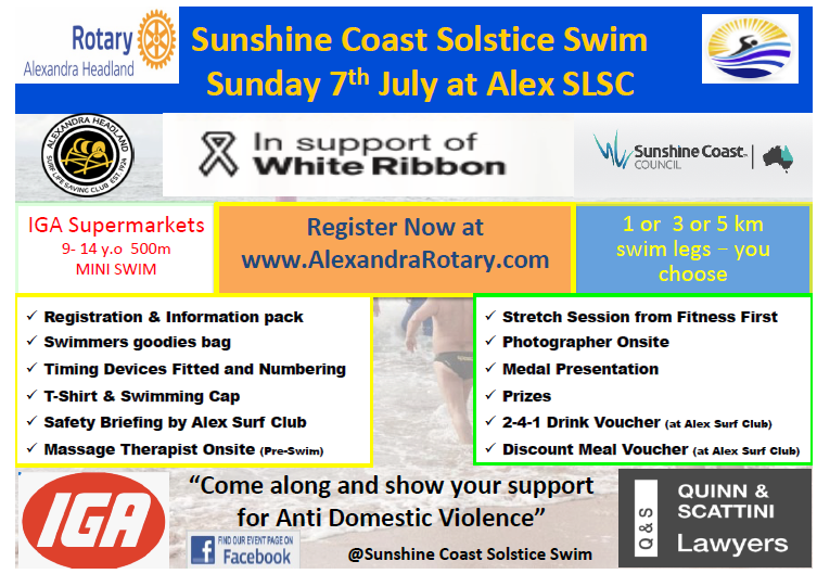 Solstice swim newsletter