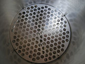 Stainless steel false bottom and element cover