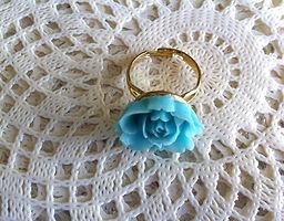 Free Designer Ring Blue Flower From Sistalk.co.uk