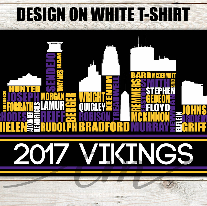 Viking Tshirt players black cropped