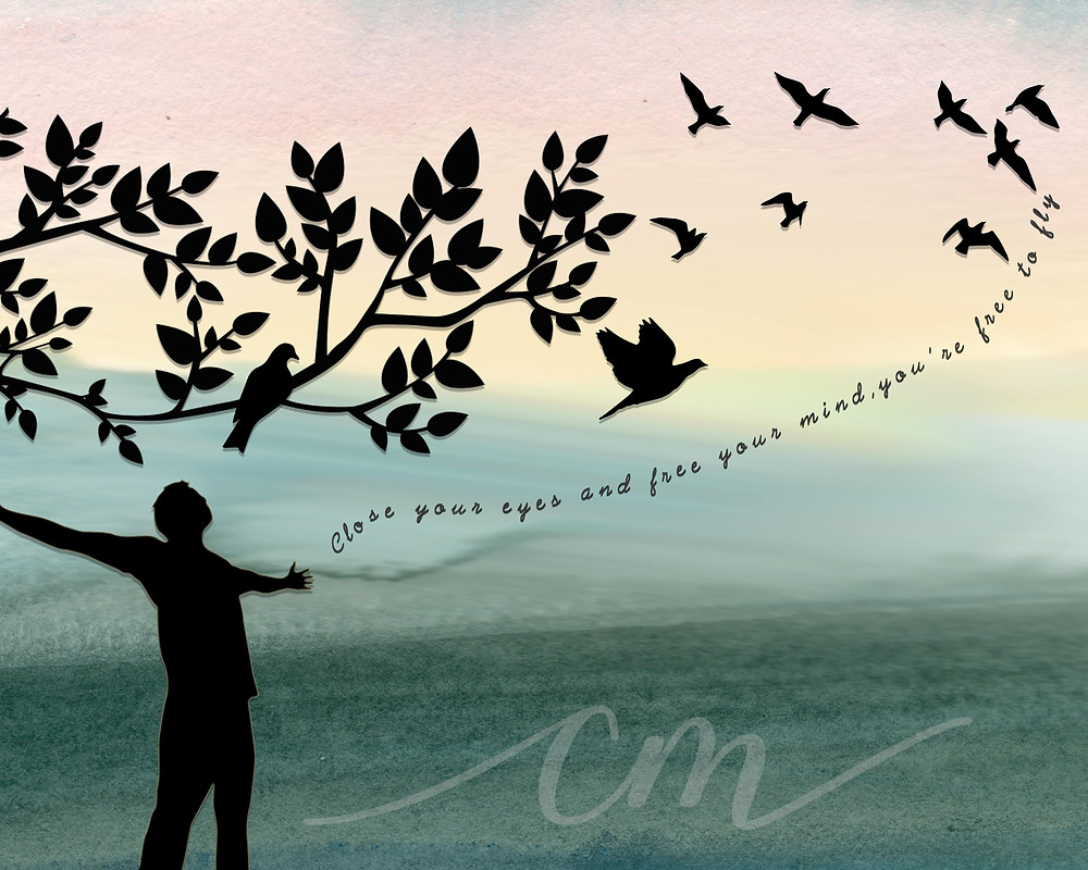 Close your eyes, free your mind, your free to fly quote