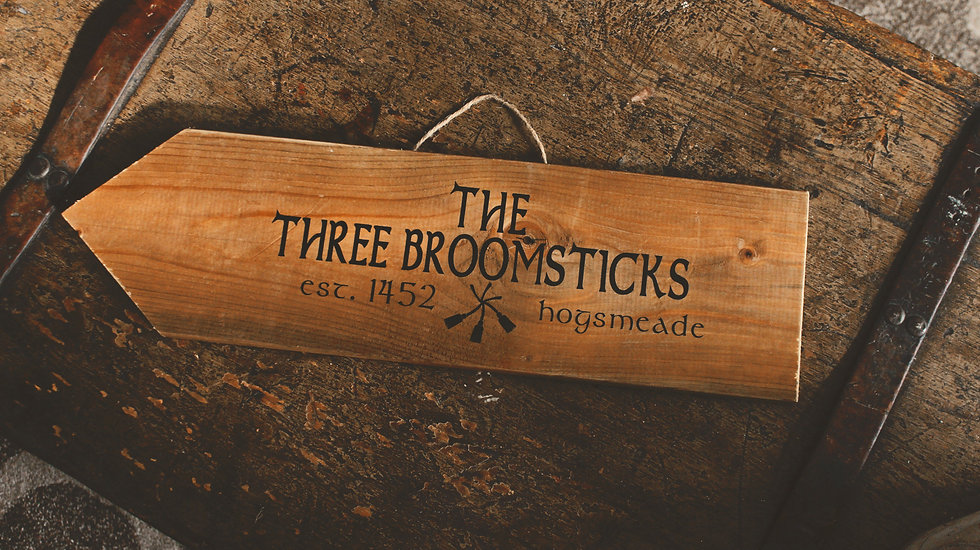 Three Broomsticks Inn - Street Sign