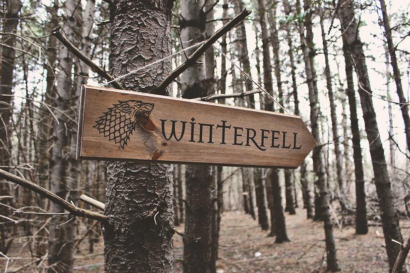Winterfell - Street Sign - Skyrim Decor