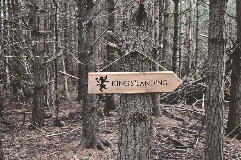 Kings Landing - Street Sign - Game of Thrones Decor