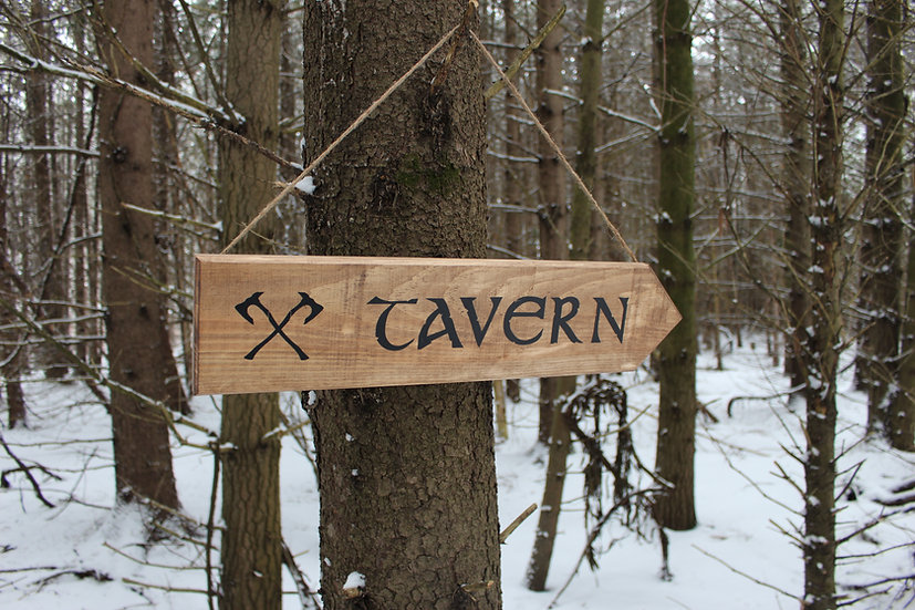 Tavern - Rustic Street Sign - Medieval Decor