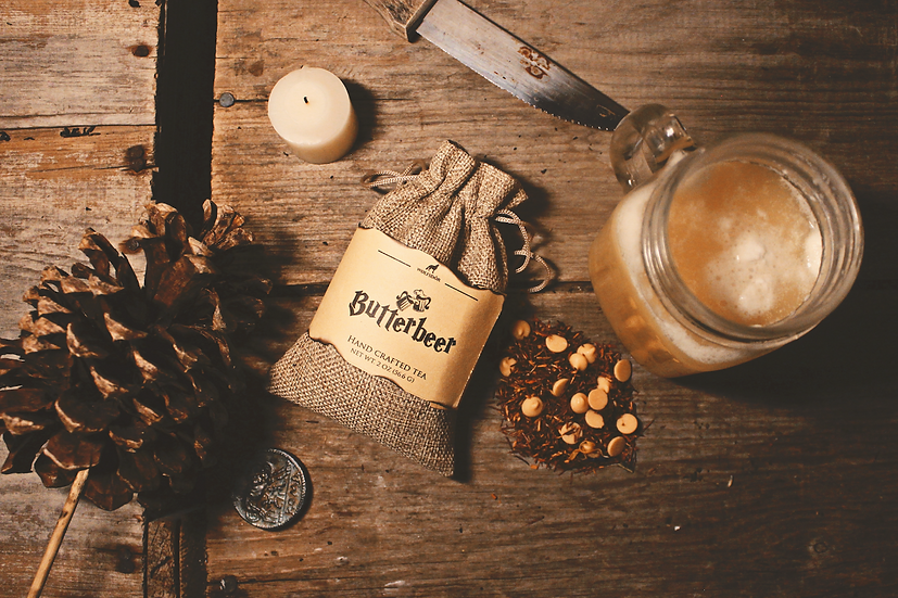 Butterbeer - Vanilla Cinnamon Rooibos with Butterscotch Chips - Looseleaf Tea