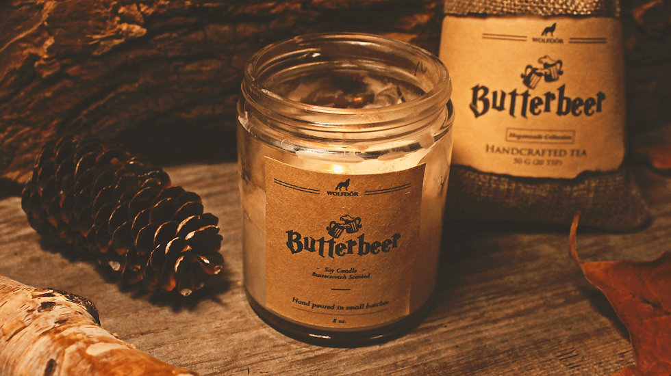 Butterbeer - Tea and Candle Set