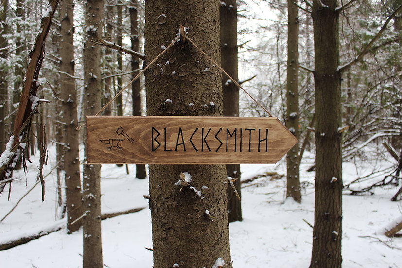 Blacksmith - Rustic Street Sign - Medieval Decor